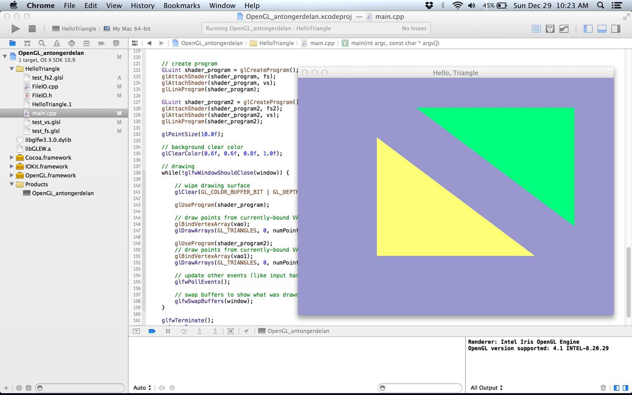Hello, Triangle – OpenGL 4 | FortunoMedia